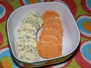 Ingwer-Tomaten-Butter (rechts)