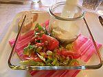 Salat mit Parmesan-Zucchini