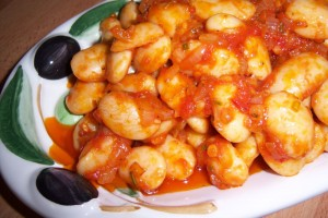 Bohnen im Tomatensoße