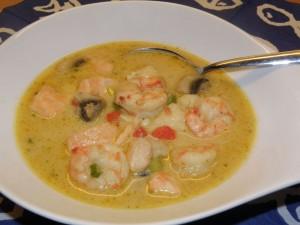 Fisch-Kokos-Suppe
